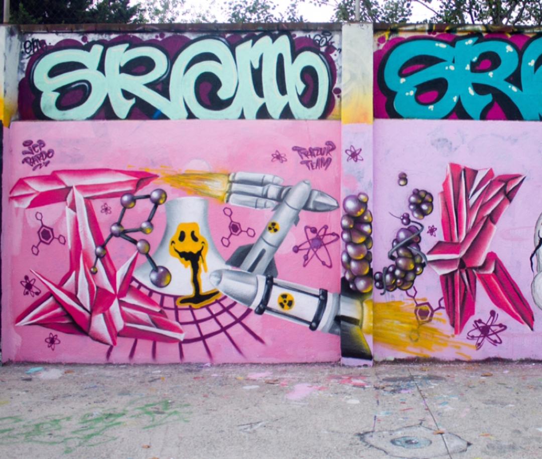Wallspot - JCP Bardo - Trazur nuclear  - Barcelona - Agricultura - Graffity - Legal Walls - Lletres, Il·lustració