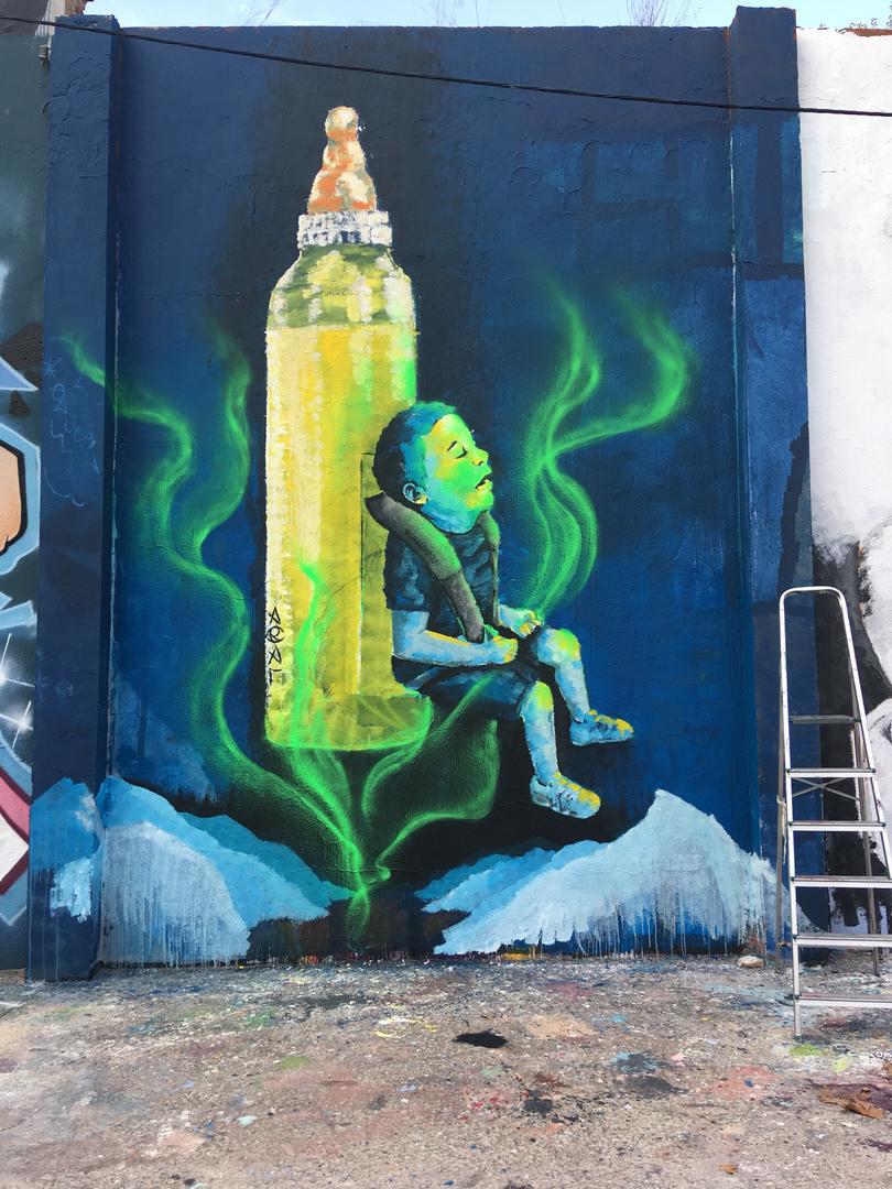 Wallspot - araL - LeXe Fresca - Barcelona - Agricultura - Graffity - Legal Walls - Il·lustració
