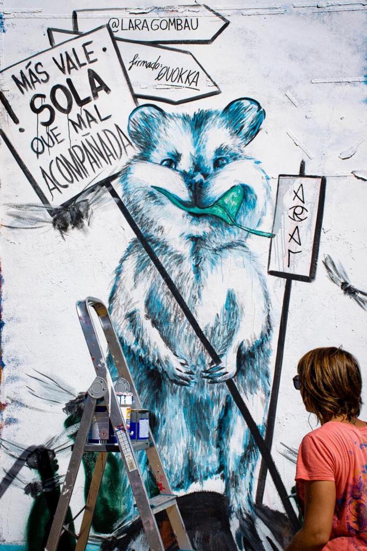 Wallspot - araL - QUOKKA - Barcelona - Tres Xemeneies - Graffity - Legal Walls - Il·lustració