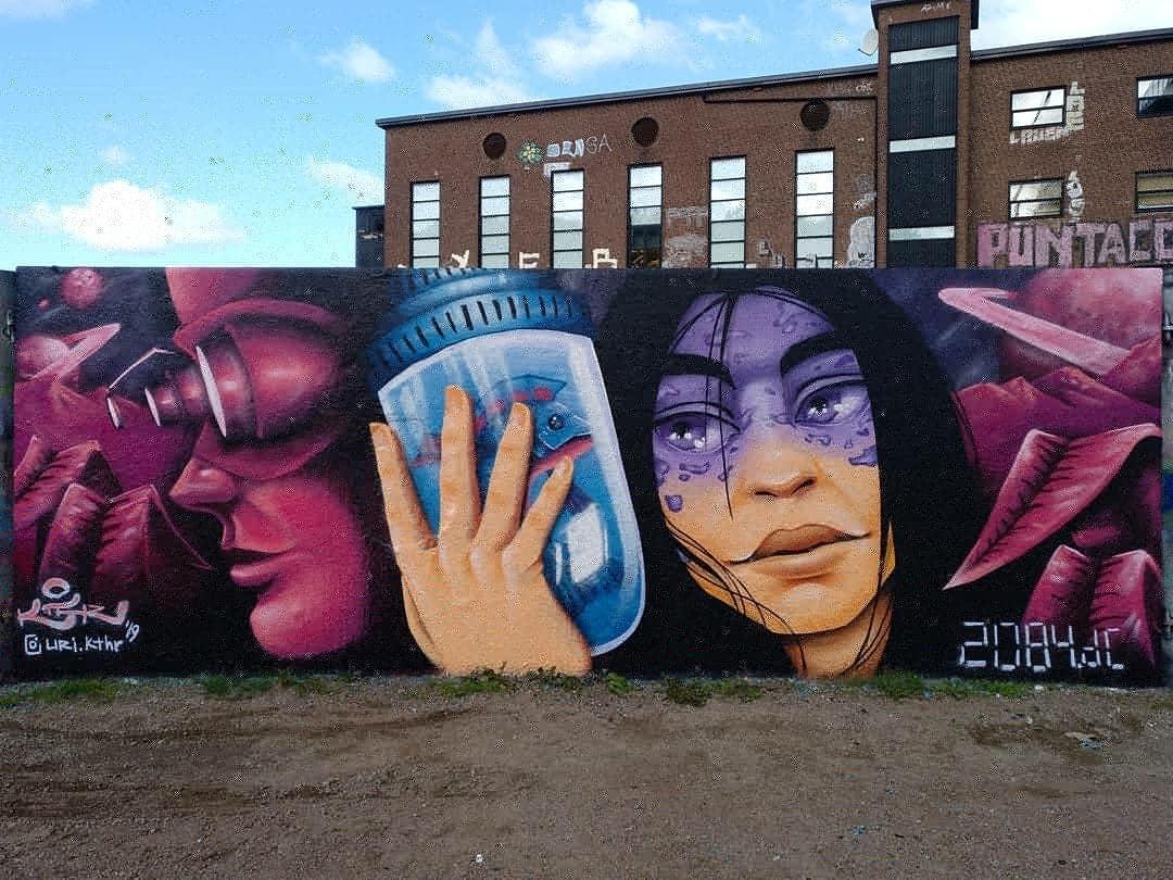 Wallspot - Uri KTHR - 2.084 d.C - Apocalyptic #10 - Göteborg - Draken - Graffity - Legal Walls - Il·lustració