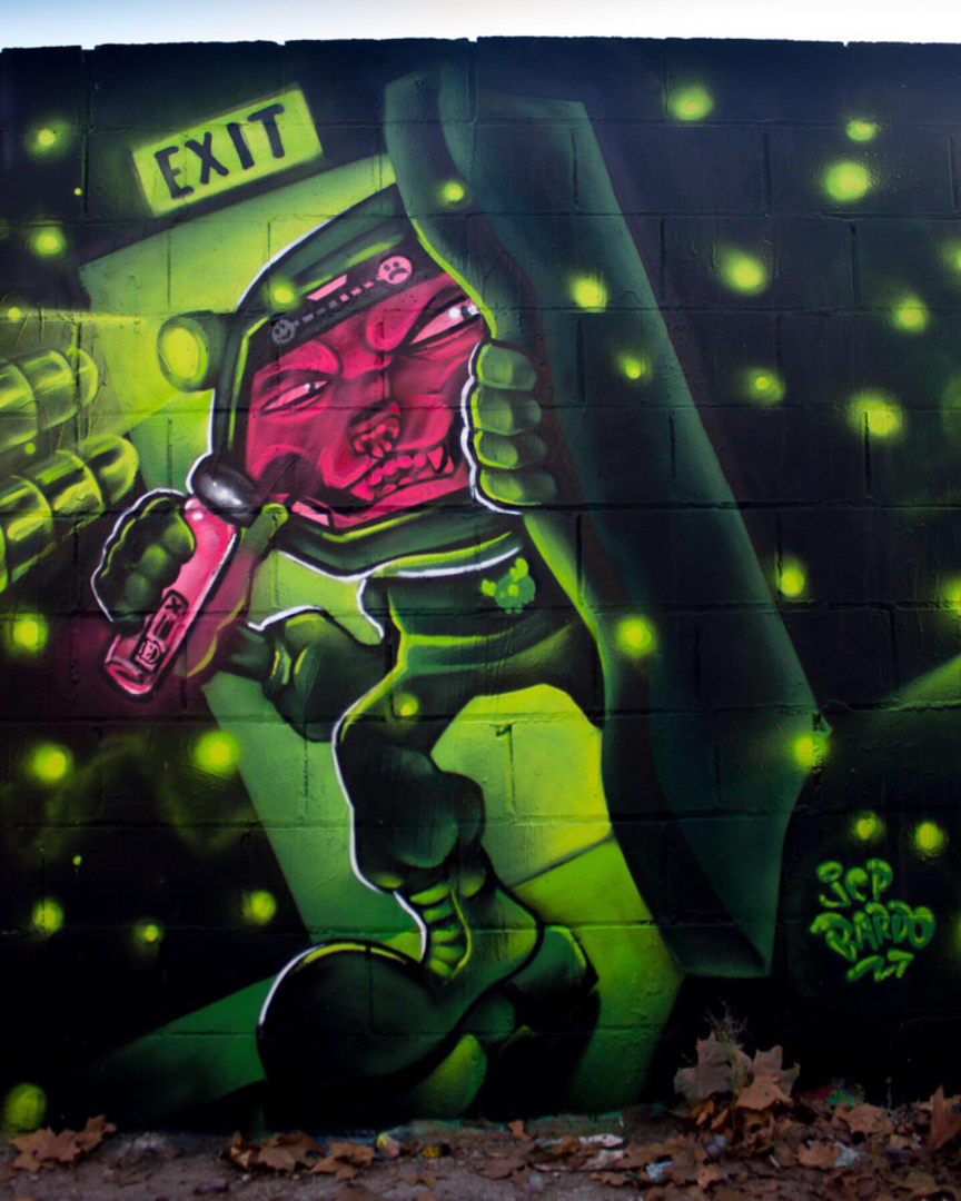 Wallspot - JCP Bardo - Poble Nou - Barcelona - Poble Nou - Graffity - Legal Walls - Il·lustració