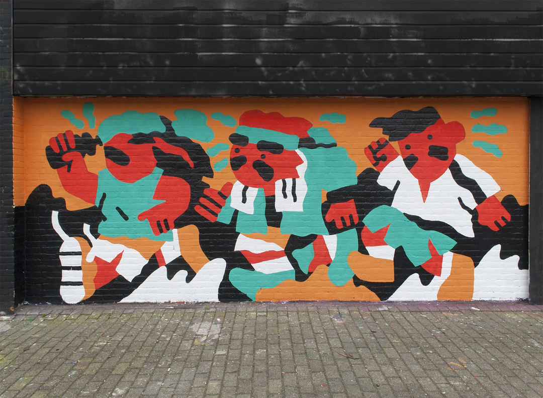 Wallspot - Thijs Lansbergen - Running - Rotterdam - Croos - Graffity - Legal Walls - Illustration