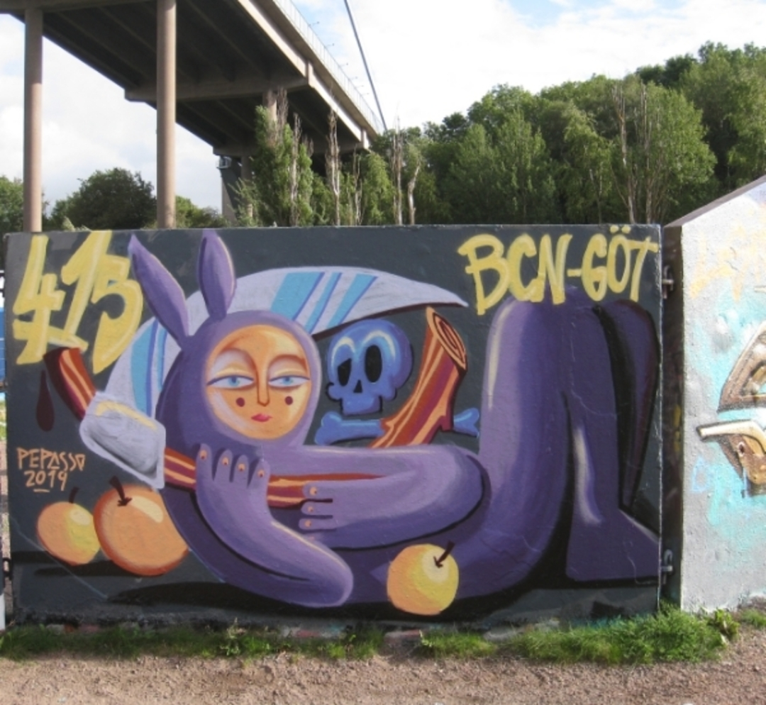 Wallspot - Pepasso - Draken - Göteborg - Draken - Graffity - Legal Walls - Illustration