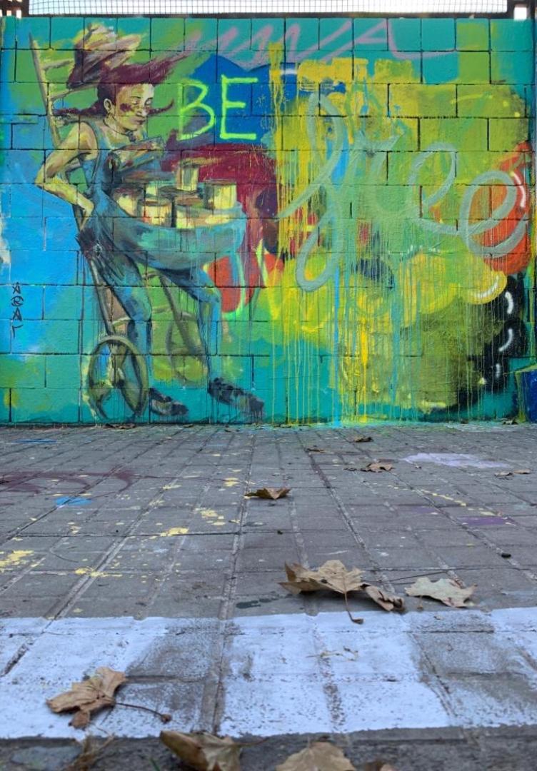 Wallspot - araL -  - Barcelona - Drassanes - Graffity - Legal Walls - Il·lustració