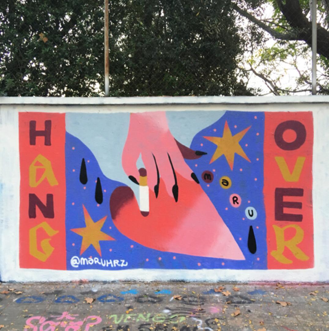Wallspot - Maruhrz - HangOver - Barcelona - Agricultura - Graffity - Legal Walls - Letras, Ilustración