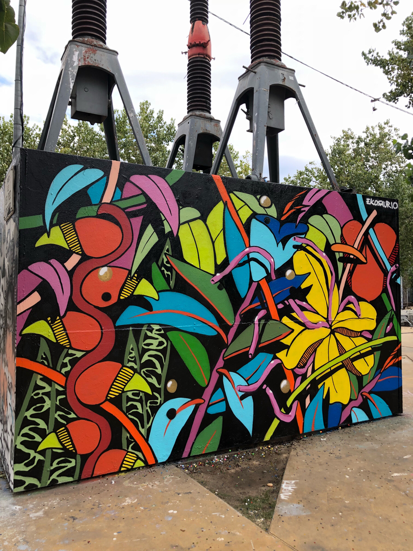 "Wallspot - Ekosaurio - ""Natural caos"" - Barcelona - Tres Xemeneies - Graffity - Legal Walls -"