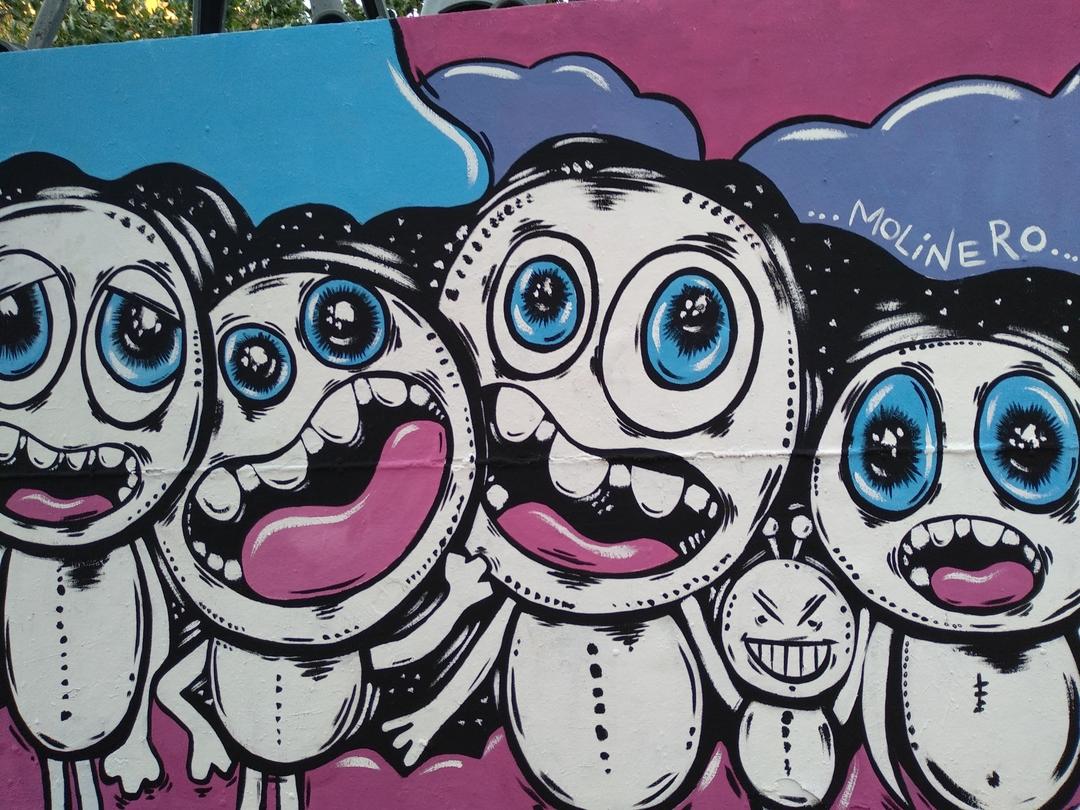 Wallspot - natalia molinero - Visitors- natalia molinero - Barcelona - Tres Xemeneies - Graffity - Legal Walls - Il·lustració