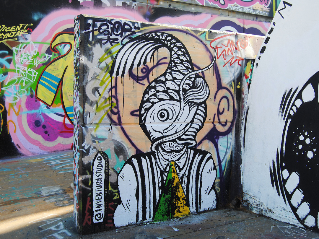 Wallspot - Inventura Studio - Smart Fish - Barcelona - Tres Xemeneies - Graffity - Legal Walls - Illustration, Others