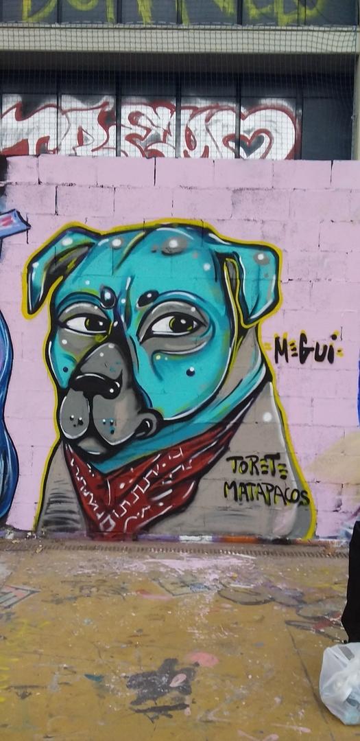 Wallspot - MEGUI -  - Barcelona - Tres Xemeneies - Graffity - Legal Walls -