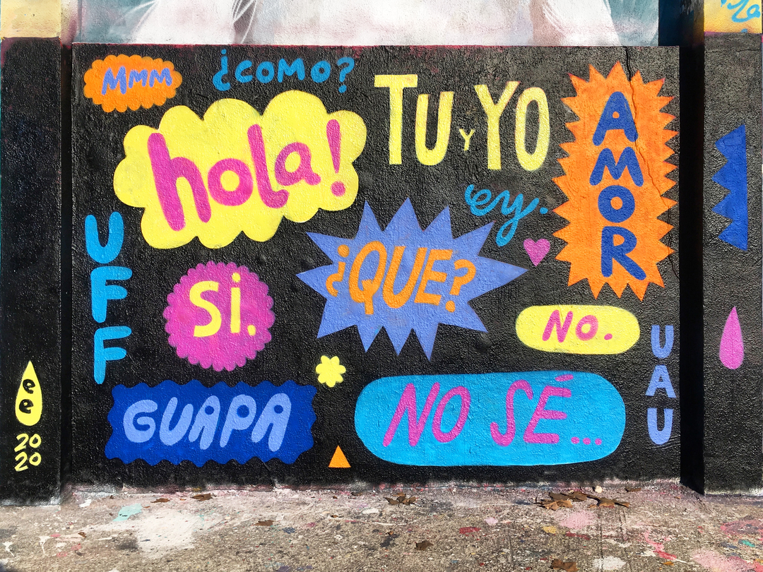 Wallspot - EmilyE - Spanish Lesson - Barcelona - Agricultura - Graffity - Legal Walls - Letters, Illustration