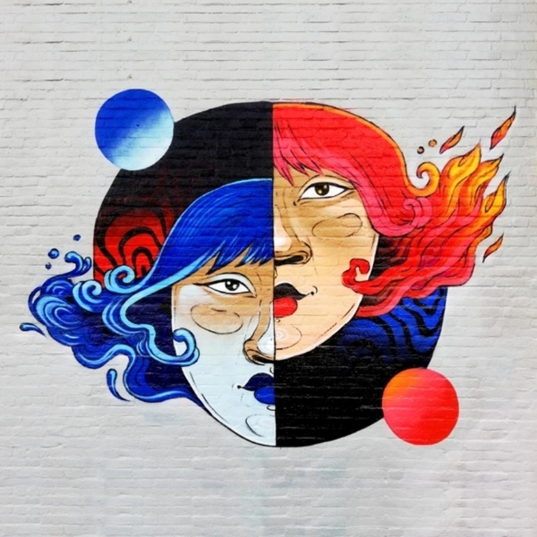 Wallspot - Maga - Agua y fuego - Rotterdam - Croos - Graffity - Legal Walls - Illustration