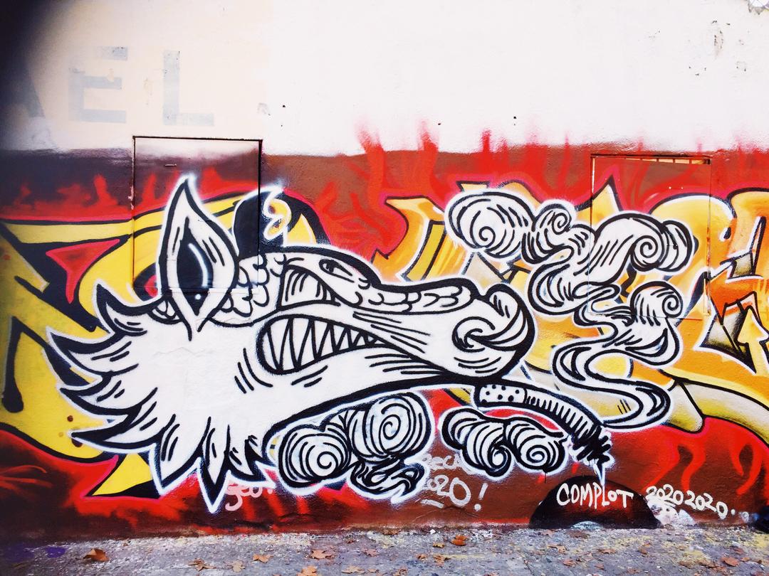 Wallspot - AMBIGOU - ARMADILLO - Barcelona - Western Town - Graffity - Legal Walls - Illustration