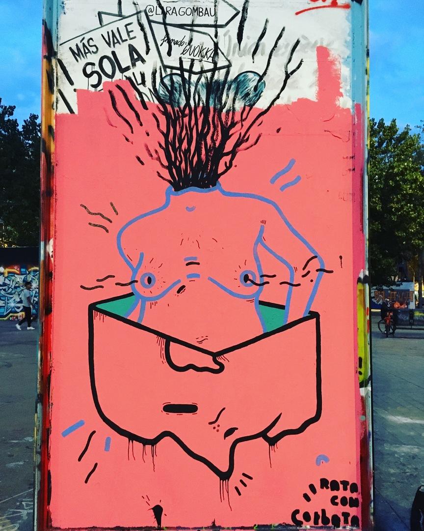 Wallspot - rata.con.corbata - Tres Xemeneies - rata.con.corbata - Barcelona - Tres Xemeneies - Graffity - Legal Walls -