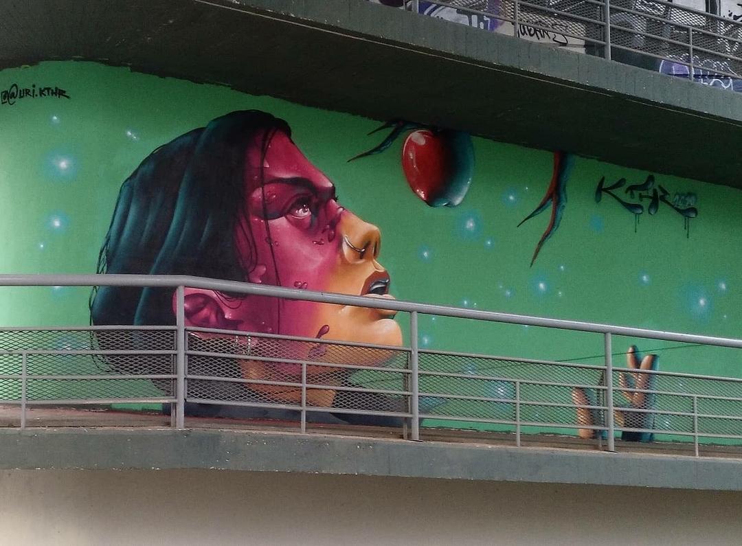 Wallspot - Uri KTHR -  - Barcelona - El pont de la ronda - Graffity - Legal Walls - Il·lustració