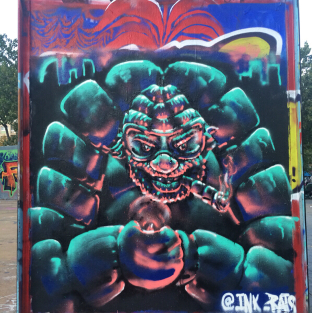 Wallspot - ink_rats -  - Barcelona - Tres Xemeneies - Graffity - Legal Walls -