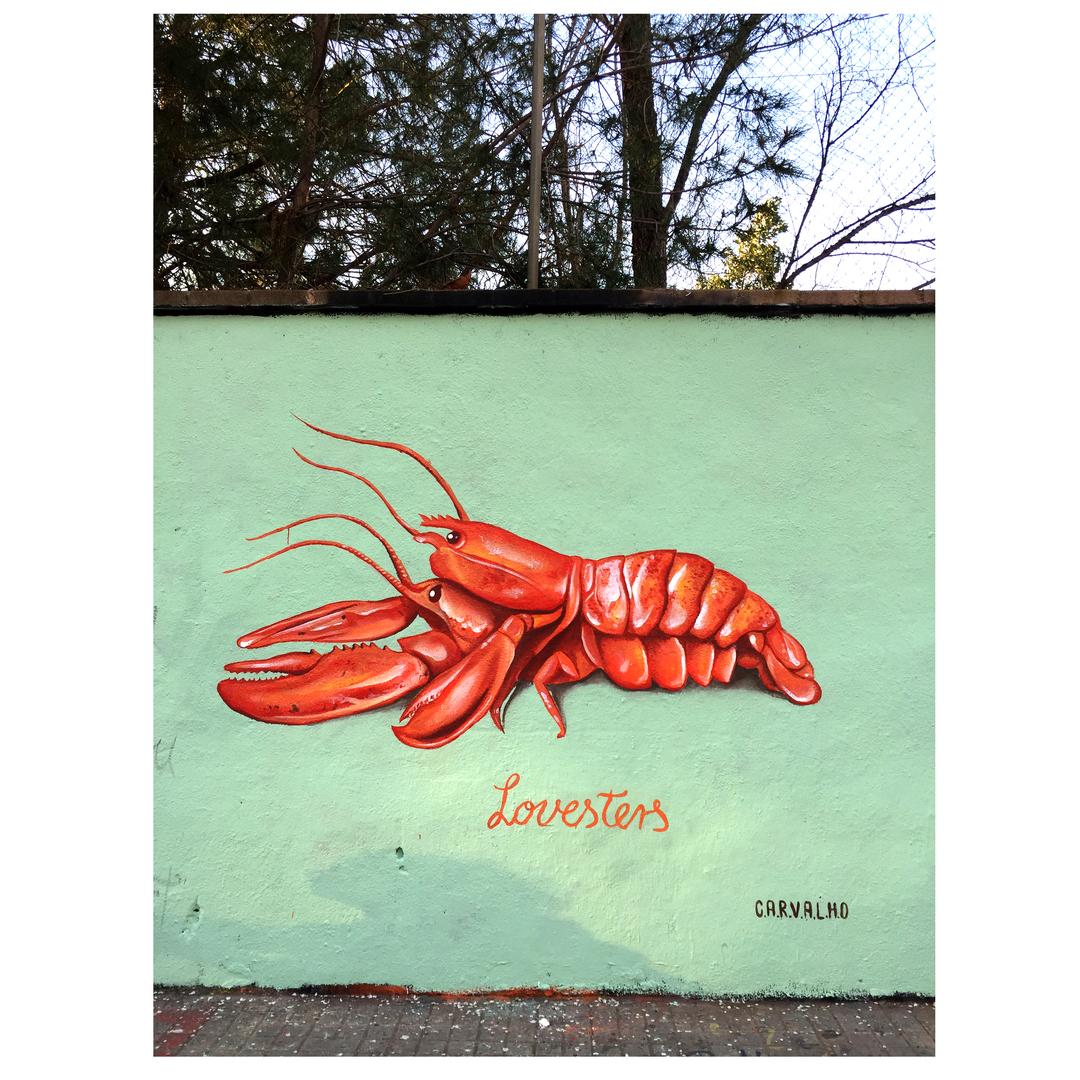 Wallspot - Daniela Carvalho - LOVESTERS - Barcelona - Agricultura - Graffity - Legal Walls - Illustration