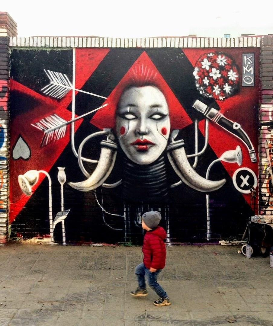 Wallspot - kimo osuna - Selva de Mar - kimo osuna - Barcelona - Selva de Mar - Graffity - Legal Walls -