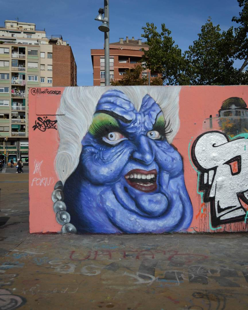 Wallspot - Splatrs - Alberto Soez @ Tres Xemeneies - Barcelona - Tres Xemeneies - Graffity - Legal Walls - Illustration - Artist - soez