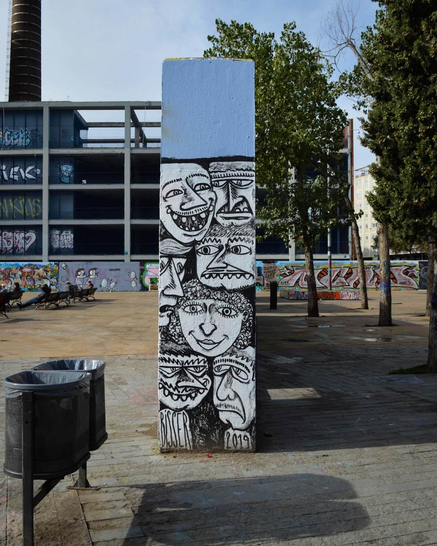 Wallspot - Splatrs - Bisser Bisser - Barcelona - Tres Xemeneies - Graffity - Legal Walls - Illustration - Artist - bisser