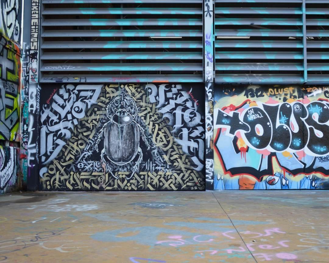 Wallspot - Splatrs - Tres Xemeneies street art - Barcelona - Tres Xemeneies - Graffity - Legal Walls - Illustration - Artist - invalid.ink