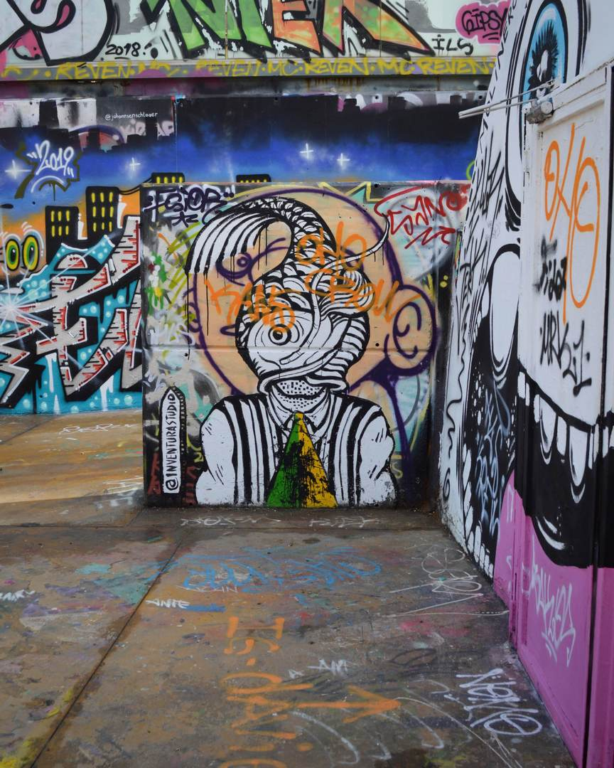 Wallspot - Splatrs - Inventura Studio artwork - Barcelona - Tres Xemeneies - Graffity - Legal Walls - Illustration - Artist - Inventura Studio