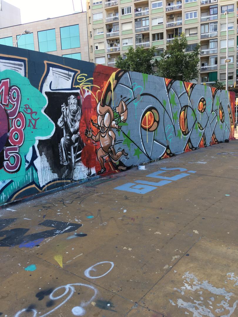Wallspot - araL - fase1 -la desescalada - Barcelona - Tres Xemeneies - Graffity - Legal Walls -