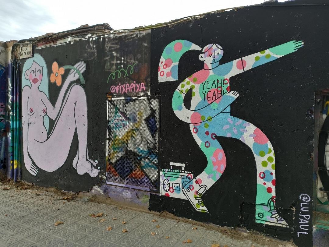 Wallspot - evalop - evalop - Project 14/07/2020 - Barcelona - Selva de Mar - Graffity - Legal Walls - Illustration - Artist - pixapixa