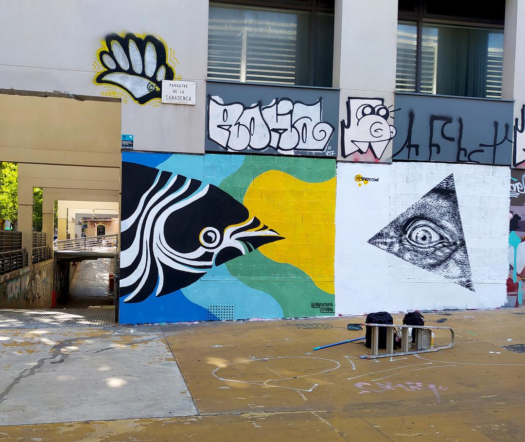 Wallspot - Inventura Studio - Tres Xemeneies - Inventura Studio - Barcelona - Tres Xemeneies - Graffity - Legal Walls - Illustration, Others