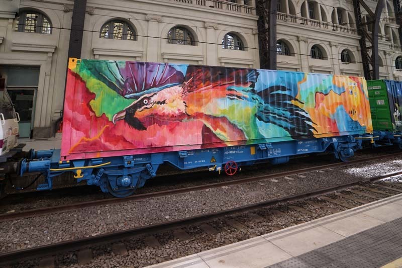 Wallspot Post - Noah's Train in Barcelona