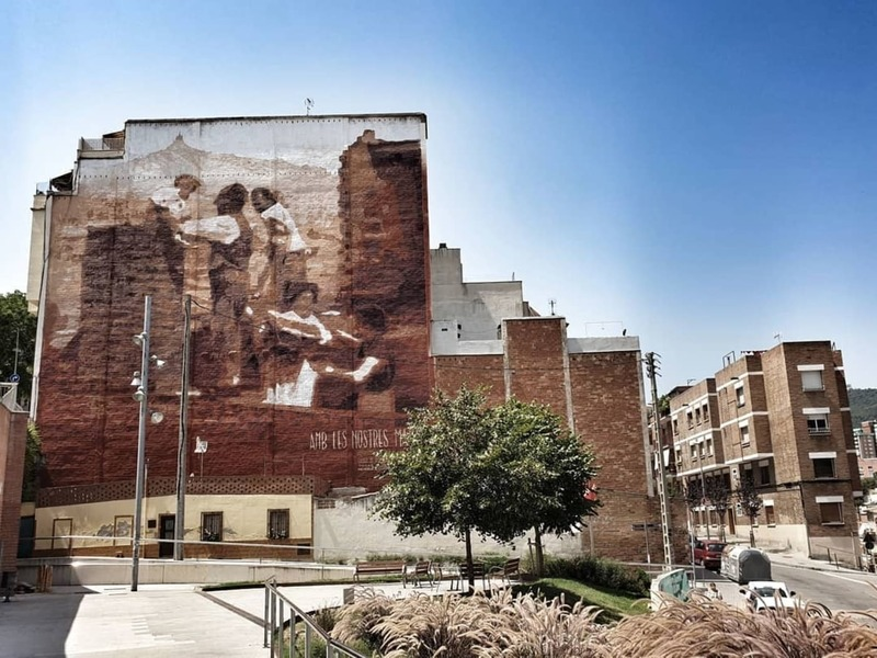 "Wallspot Post - ROC BLACKBLOCK - ""WITH OUR HANDS"", INTERVENTION IN LA TEIXONERA, BARCELONA"