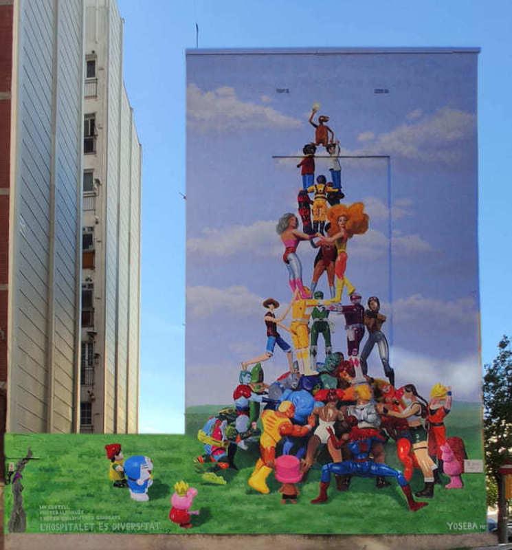 Wallspot Post - Yoseba MP has made a large mural on l'Hospitalet