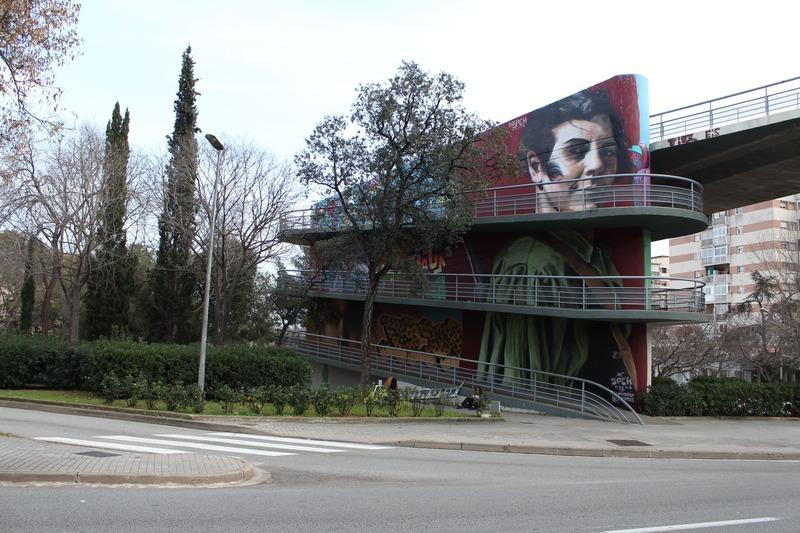 Wallspot Post - FEBRUARY 9th – PONT DE LA RONDA D'HORTA GUINARDÓ – MARINA GINESTÀ MURAL