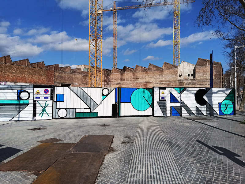 "Wallspot Post - WALL LAB: Artistic intervention by Spogo, ""Old factory: La Siberia"" in Avinguda Icaria 199 (Poblenou Barcelona)."