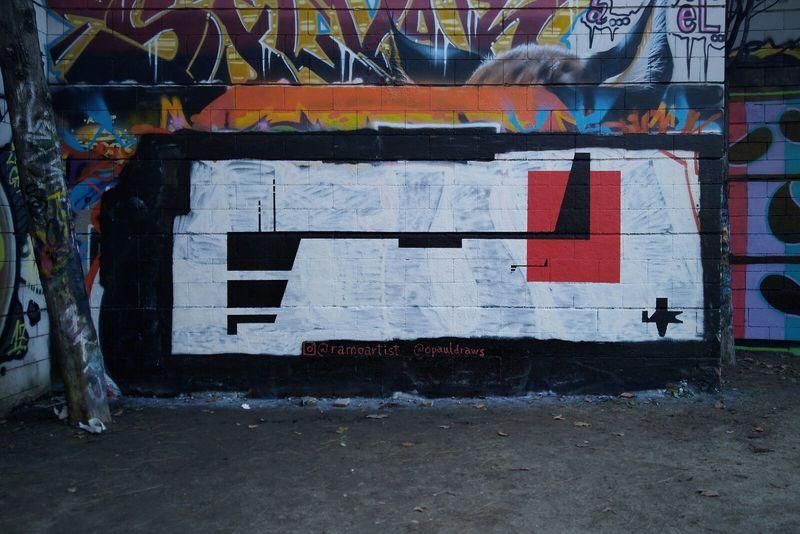 Wallspot - Ramo - Spaceship Fleet A1 - Drassanes - Ramo - Barcelona - Drassanes - Graffity - Legal Walls - Illustration, Others