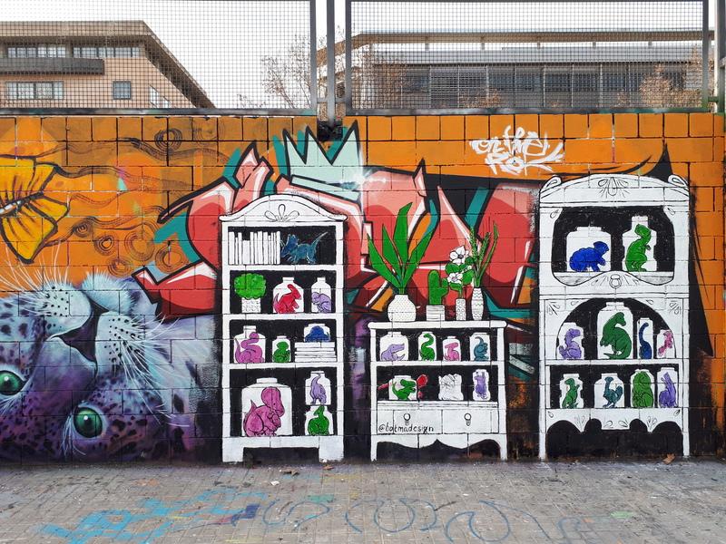Wallspot - botmadesign - Drassanes - botmadesign - Barcelona - Drassanes - Graffity - Legal Walls - Illustration