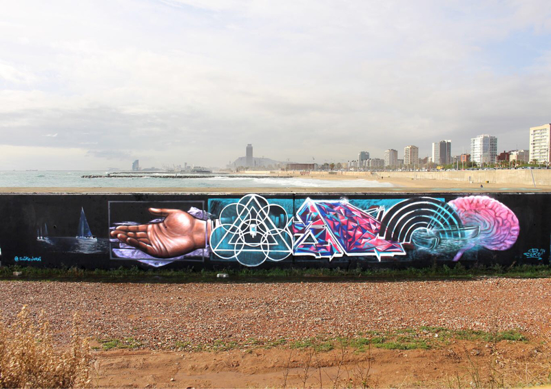 Wallspot - saiko - Barcelona - Forum beach - Graffity - Legal Walls -