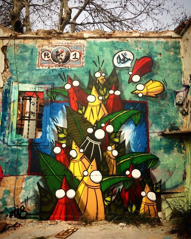 Wallspot - ONA - Western Town - ONA - Barcelona - Western Town - Graffity - Legal Walls - Illustration, Others