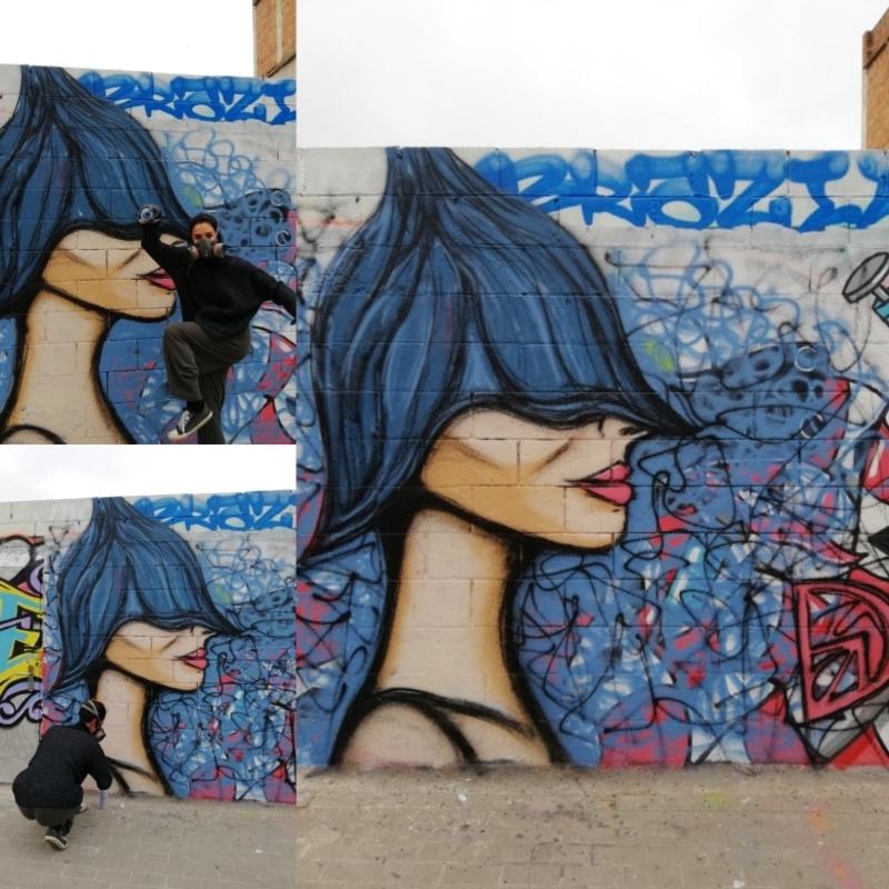 Wallspot - DALA @daliladuartedrd - Barcelona - Poble Nou - Graffity - Legal Walls -