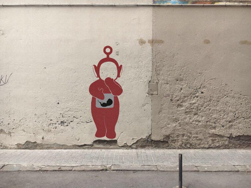 Wallspot - alergiastencil - La Po té por - Barberà del Vallès - Carretera Barcelona - Graffity - Legal Walls - Stencil