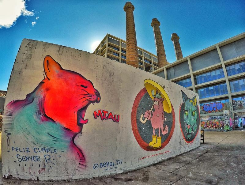 Wallspot - Berol377 - Tres Xemeneies - Barcelona - Tres Xemeneies - Graffity - Legal Walls - Illustration