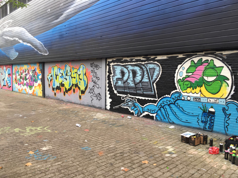 Wallspot - Revolve - Give me some Space - Rotterdam - Croos - Graffity - Legal Walls - Letters, Illustration