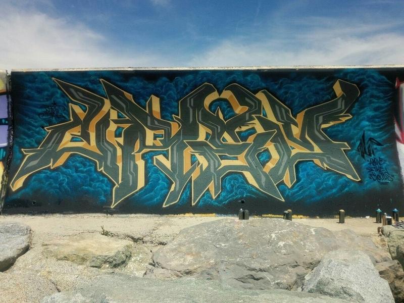 Wallspot - crey_one - Forum beach - Barcelona - Forum beach - Graffity - Legal Walls - Letters