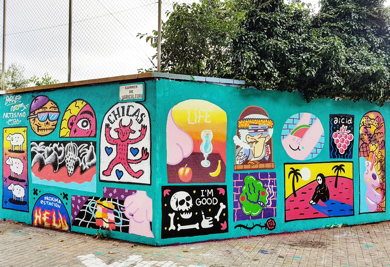 Wallspot - art3sano - Collab Wall - Barcelona - Agricultura - Graffity - Legal Walls - , ,