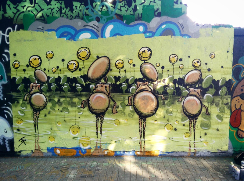 Wallspot - Damian Tab - Barcelona - Agricultura - Graffity - Legal Walls - ,