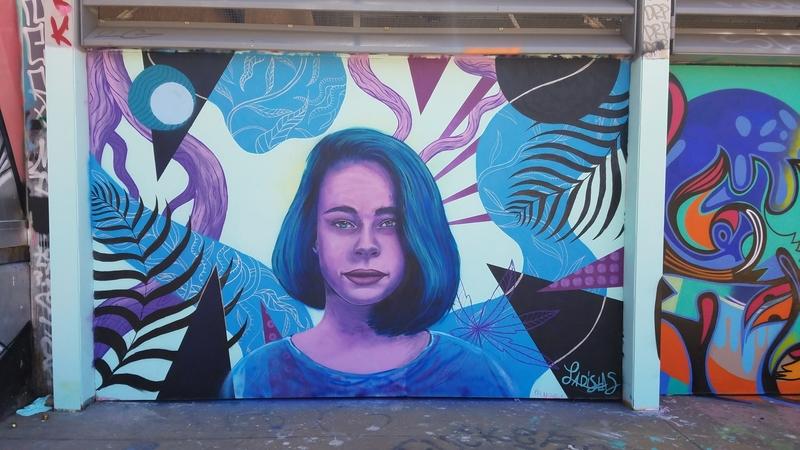 Wallspot - Ladislas - Tres Xemeneies mural w/ Ladislas & J.Chiale - Barcelona - Tres Xemeneies - Graffity - Legal Walls - Illustration