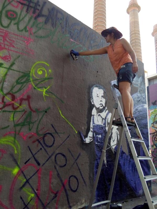 Wallspot - araL - pintaré - Barcelona - Tres Xemeneies - Graffity - Legal Walls - Illustration