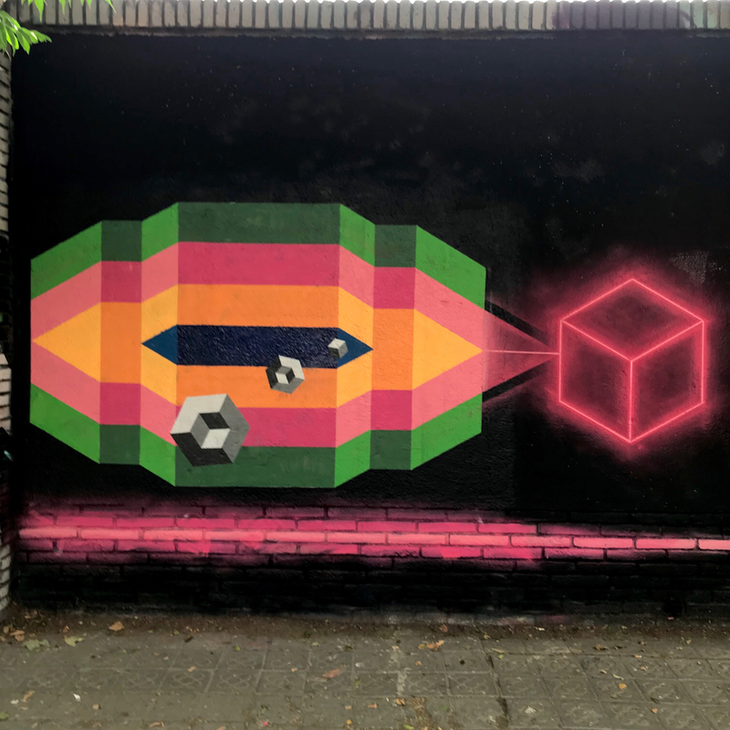 Wallspot - Ben Hunter - Codes - Barcelona - Selva de Mar - Graffity - Legal Walls - Illustration
