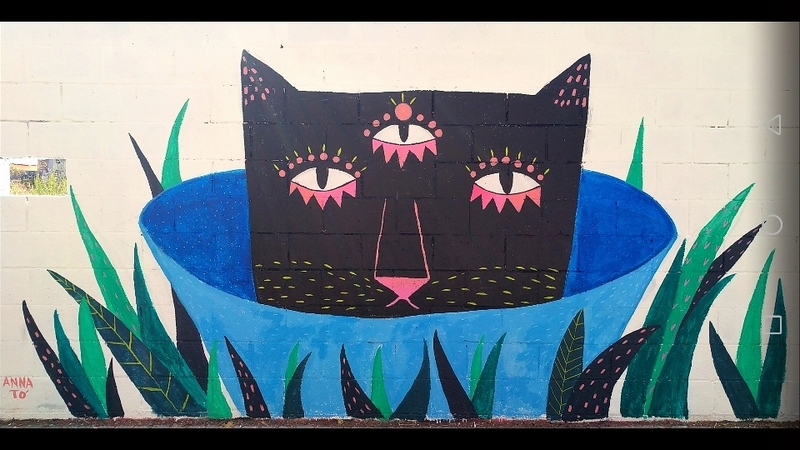 Wallspot - Anna Tó - Hellseherkatze - Barcelona - Poble Nou - Graffity - Legal Walls - Illustration