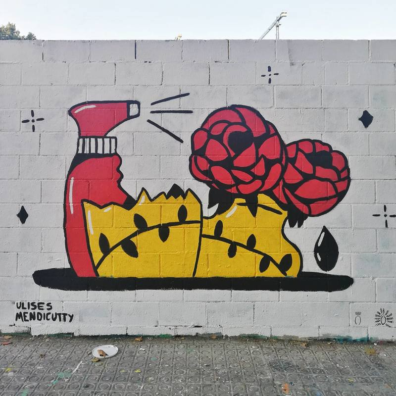 Wallspot - umendicutty - BROKEN. - Barcelona - Poble Nou - Graffity - Legal Walls - Illustration