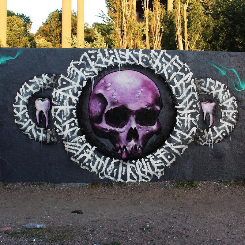 Wallspot - sagie - skull under the bridge.  - Göteborg - Draken - Graffity - Legal Walls - Letters, Illustration, Others